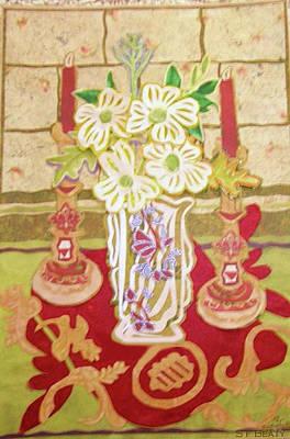 Still Life With Flowers Mixed Media - Dogwood Flower Still Life by Sandra fw Beaty
