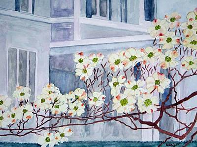 Dogwood Time In Oldtown Art Print by Larry Wright