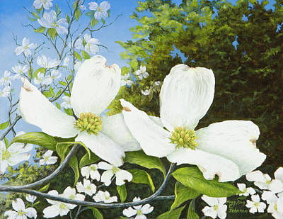 Painting - Dogwoods #2 by Mary Ann King