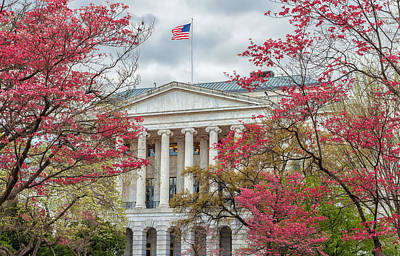 Photograph - Dogwoods And The Senate Office by Jonathan Nguyen