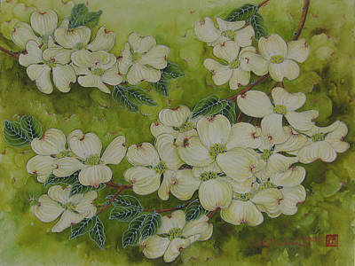Painting - Dogwoods by Shay Wahl