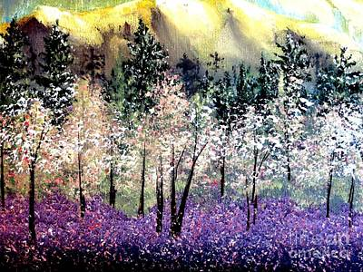 Painting - Dogwoods Redbuds And Lavender by Tim Townsend