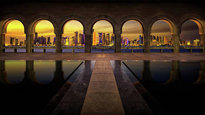 Architecture Digital Art - Doha by Super Lovely