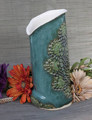 Ceramic Art - Doily Vase I by Suzanne Gaff