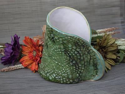 Ceramic Art - Doily Vase II by Suzanne Gaff