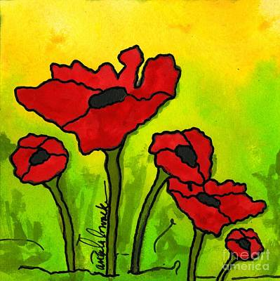 Painting - Doing The Poppy Shuffle by Angela L Walker