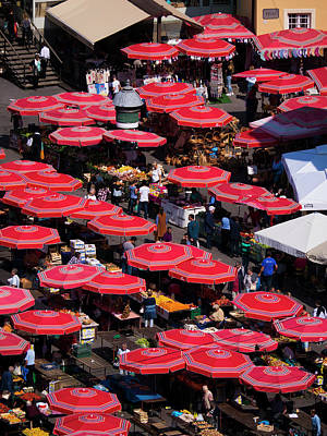 Photograph - Dolac Market Umbrellas by Rae Tucker