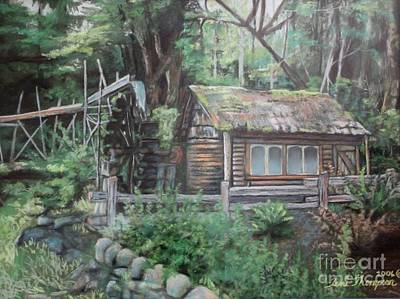 Painting - Dolby Water Wheel by Terri Thompson
