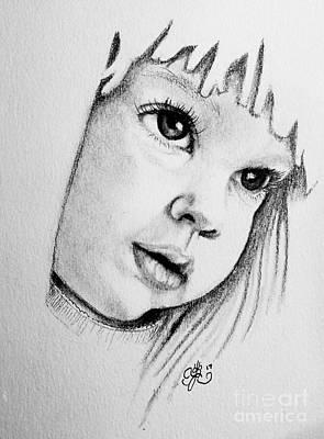 Drawing - Doll Child by Scarlett Royal