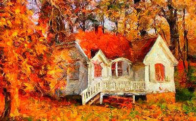 Doll House And Foliage Art Print