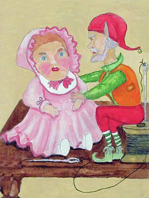 Doll Maker Elf Original by Gordon Wendling