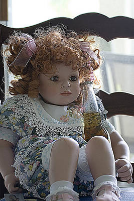 Doll Sitting In Chair With Bottle Of Beer Art Print by Christopher Purcell