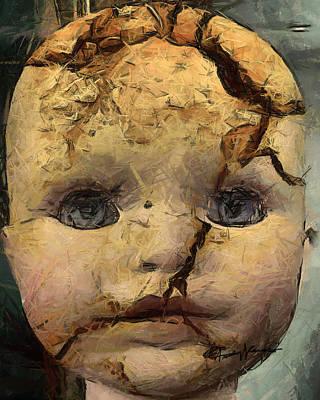 Cracks Digital Art - Doll Trauma by Anthony Caruso