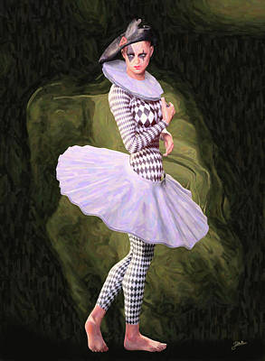 Female Clown Painting - Doll Tutu by Joaquin Abella