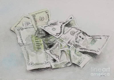 Painting - Dollar Bills by Yoshiko Mishina
