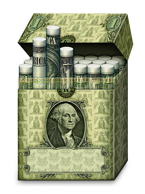 Digital Art - Dollar Cigarettes by James Larkin