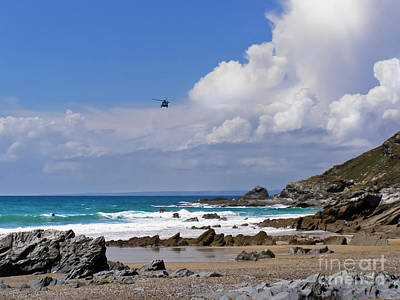 Photograph - Dollar Cove, Gunwalloe Search And Rescue by Terri Waters