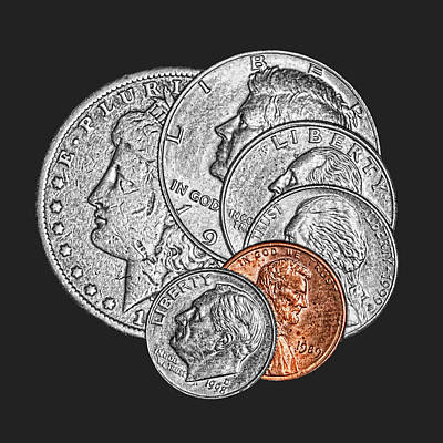 Coins Photograph - Dollar Ninety One by Tom Mc Nemar