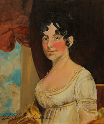 Dolley Madison Painting - Dolley Madison by Jan Mecklenburg