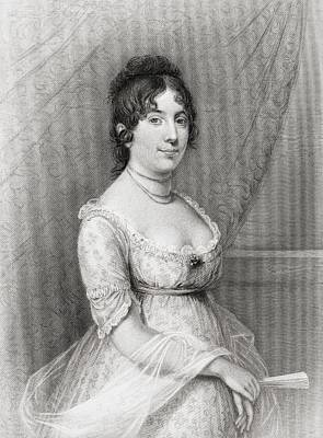 Dolley Madison Drawing - Dolley Payne Todd Madison 1768 To 1849 by Vintage Design Pics