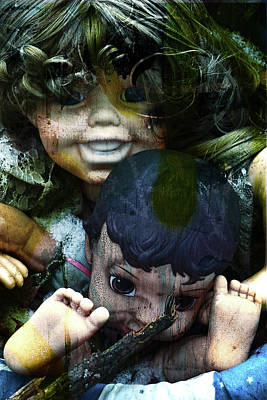 Faceless Doll Photograph - Dolls M And N by Char Szabo-Perricelli