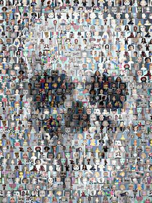 Mixed Media Royalty Free Images - Dolls Skull Mosaic Royalty-Free Image by Paul Van Scott