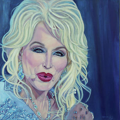 Painting - Do I Ever Cross Your Mind? - Dolly Parton by Maria Modopoulos