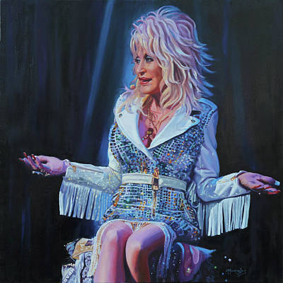 Painting - Heartsong - Dolly Parton by Maria Modopoulos