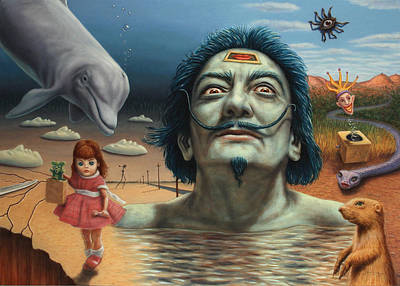 Surreal Landscape Painting - Dolly In Dali-land by James W Johnson