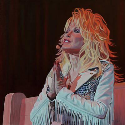 Painting - Precious Memories - Dolly Parton by Maria Modopoulos