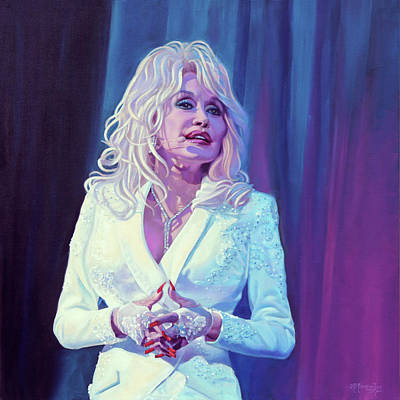 Painting - Little Sparrow - Dolly Parton by Maria Modopoulos