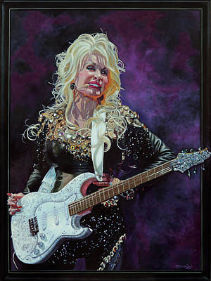 Painting - Why'd You Come In Here Lookin' Like That - Dolly Parton by Maria Modopoulos