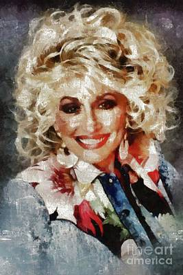 Music Paintings - Dolly Parton by Mary Bassett by Esoterica Art Agency