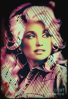 Dolly Parton - Digital Art Painting Art Print