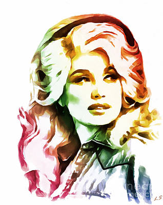 Painting - Dolly Parton by Sergey Lukashin