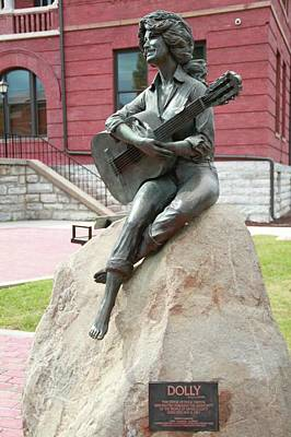 Dolly Parton Statue Art Print by Dan Sproul