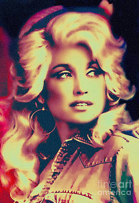 Dolly Parton - Vintage Painting Art Print