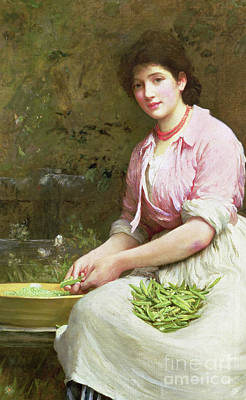 Pea Green Painting - Dolly by Samuel Luke Fildes
