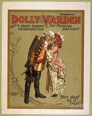 Painting - Dolly Varden Vintage Theatre Brochure by R Muirhead Art