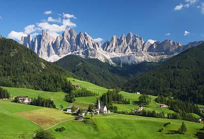 Dolomites In Summer Art Print by Dan Breckwoldt