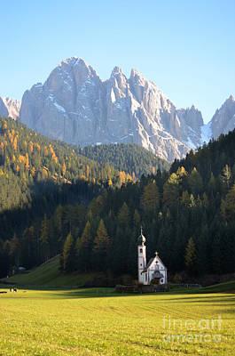 Photograph - Dolomites Mountain Church by IPics Photography