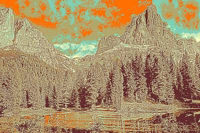 Nature Painting - Dolomites Mountains Belluno Italy View Alpine by Celestial Images