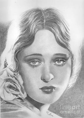 Drawing - Dolores Costello by Karen Townsend