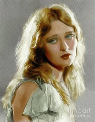 Painting - Dolores Costello, Vintage Movie Star by John Springfield