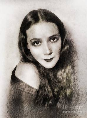 Dolores Painting - Dolores Del Rio, Vintage Actress by John Springfield