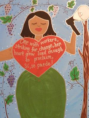 Painting - Dolores Huerta by Angela Yarber