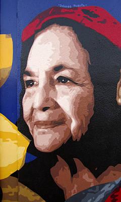 Dolores Painting - Dolores Huerta by Roberto Valdes Sanchez