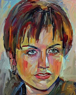 Digital Art - Dolores O Riordan Tribute Portrait 1 by Yury Malkov
