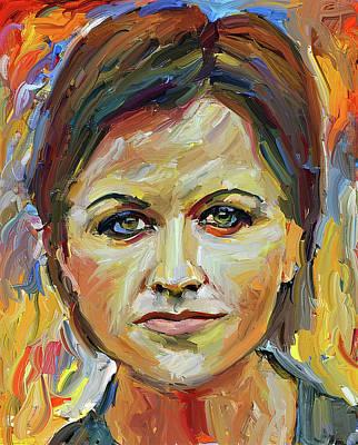 Digital Art - Dolores O Riordan Tribute Portrait 3 by Yury Malkov
