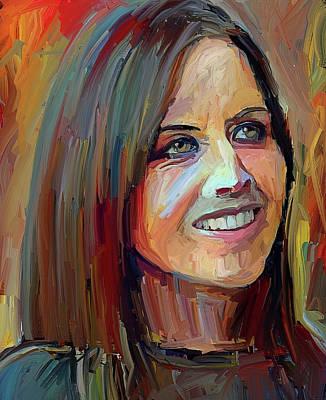 Digital Art - Dolores O Riordan Tribute Portrait 4 by Yury Malkov